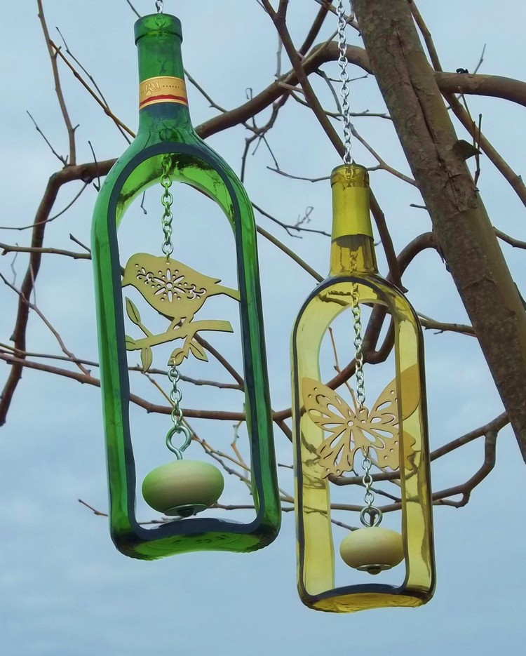 Glass Bottles Wind Chimes