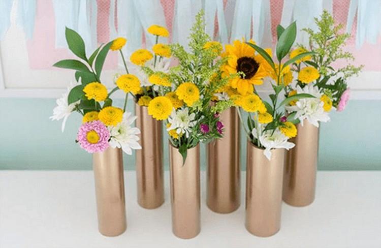 PVC Pipe Flower Vases