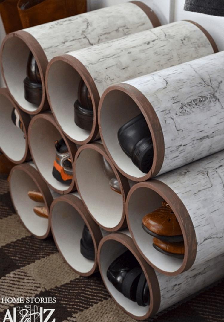 PVC Pipes Storage Ideas