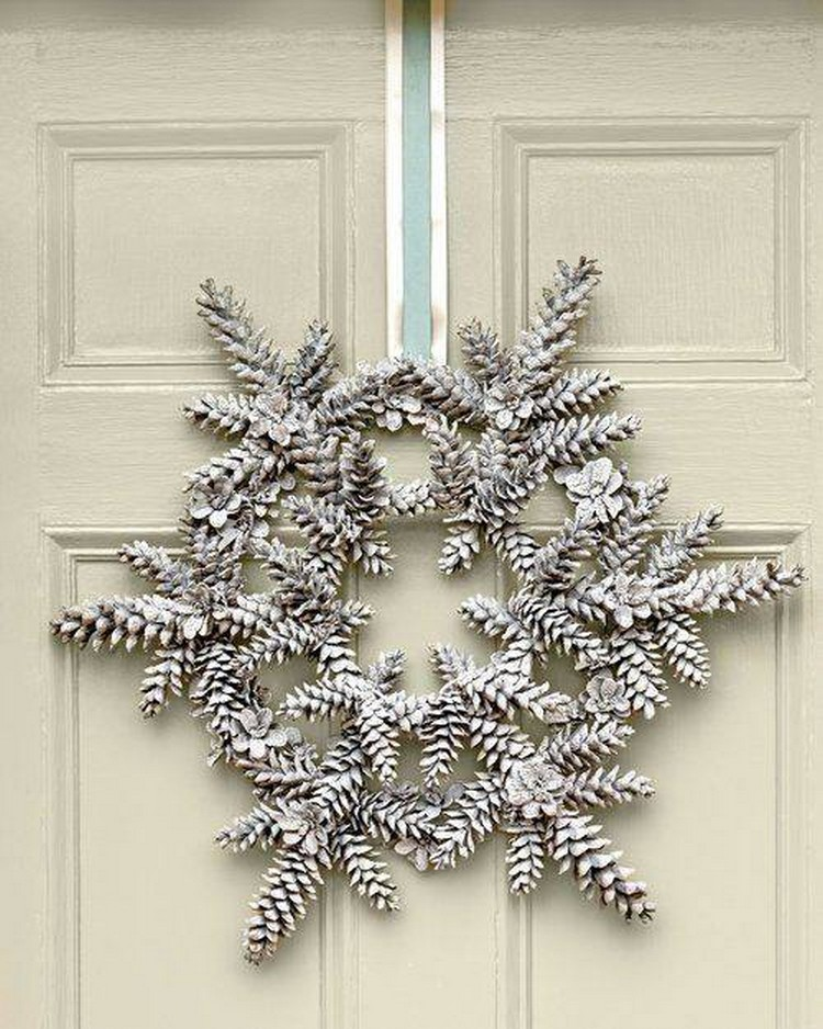 Pine Cone Door Decor