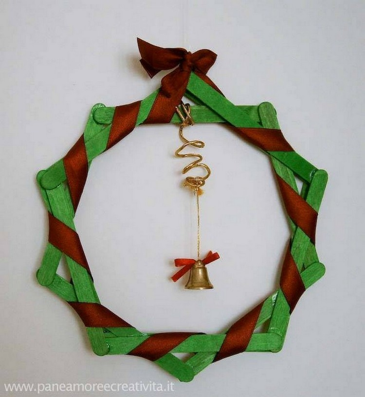Popsicle Sticks Wreath
