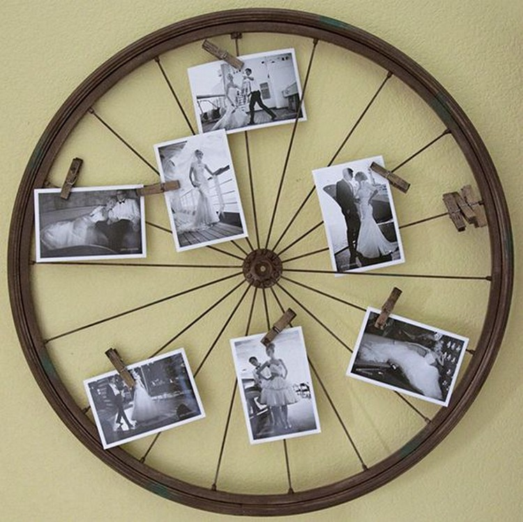 Recycled Bicycle Wheel