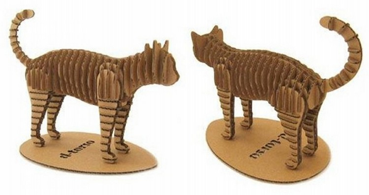 Recycled Cardboard Cats
