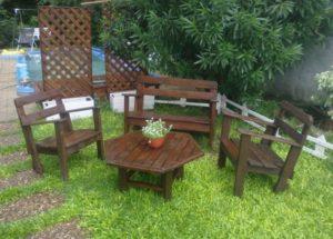 Recycled Pallet Garden Furniture Ideas