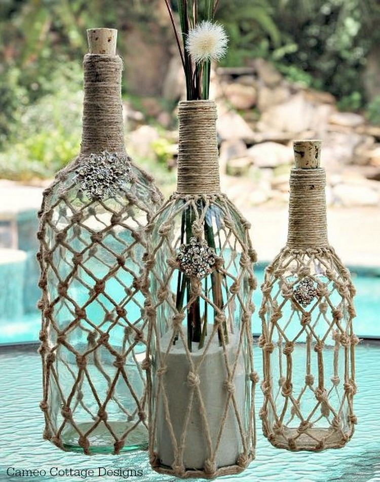 Roped Decorative Bottles