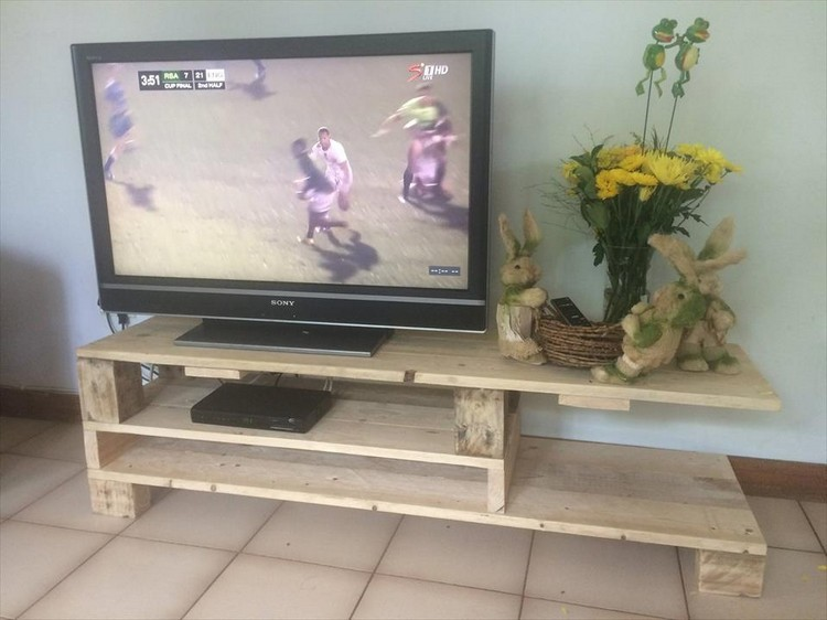 Unique Pallet TV Stand