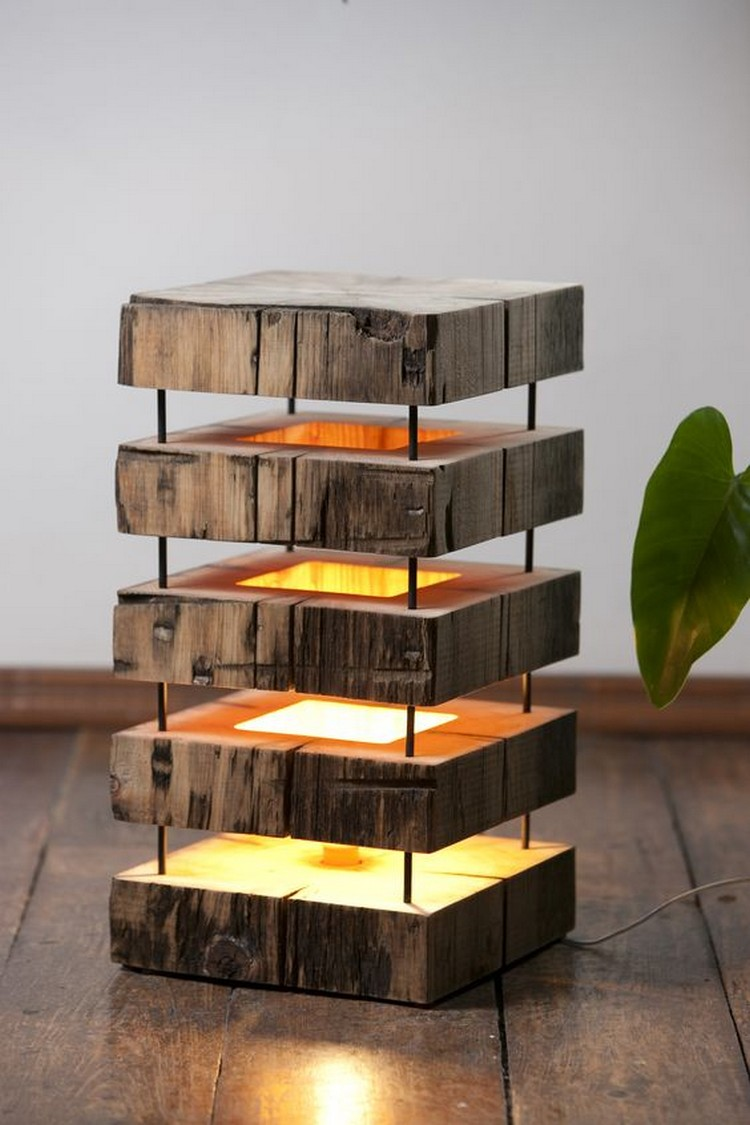 Creative DIY Wooden Lamps That Will Light Up Your Home