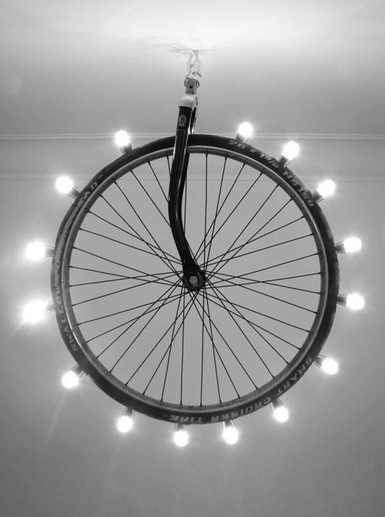 Upcycled Bicycle Wheel