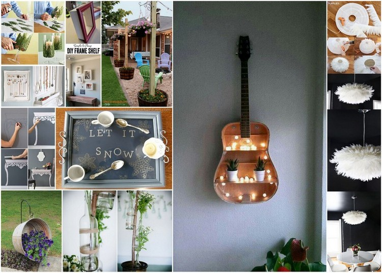 cheap and easy diy home decor projects | recycled things