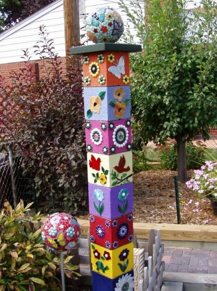 Cinder Blocks Garden Decor