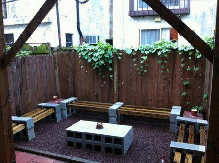 Cinder Blocks Outdoor Furniture