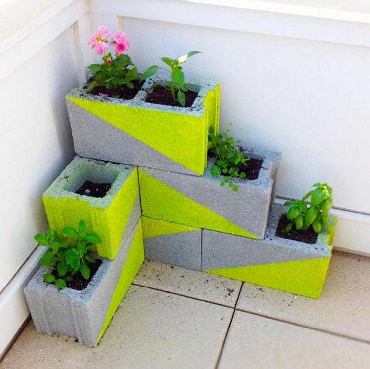 Cinder Blocks Planter