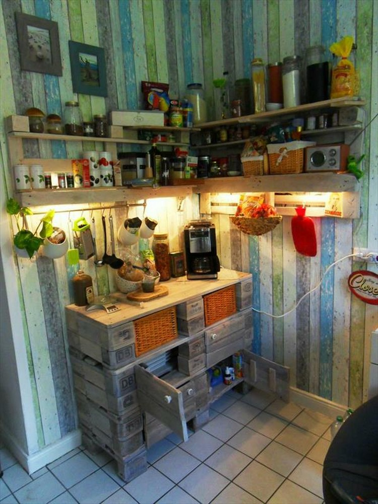 Pallet Shelves and Cabinet