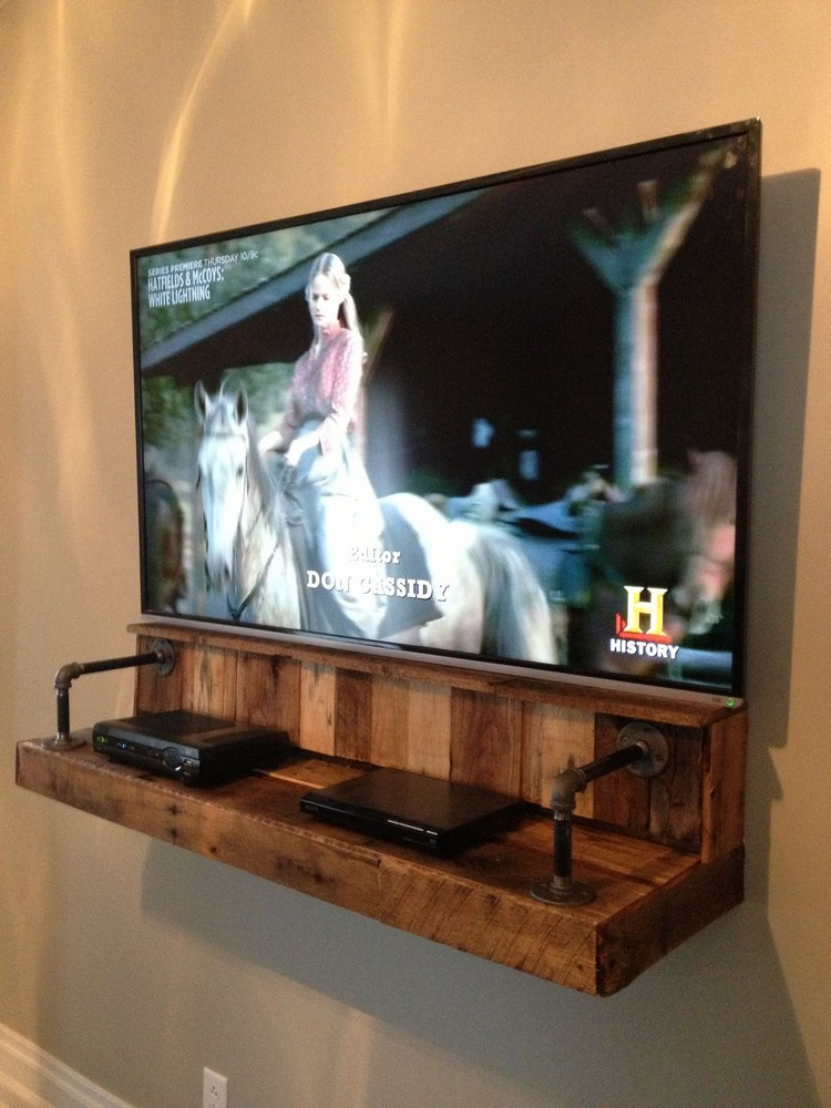 Pallet TV Stand Shelf