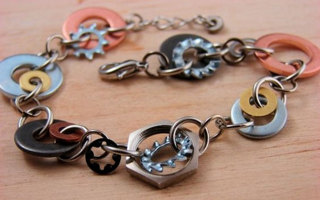 Recycled Bracelet Idea