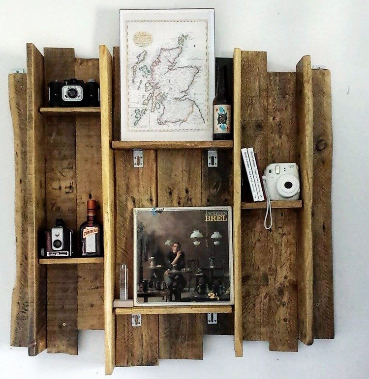 Attractive Wooden Pallet Shelves Recycled Things