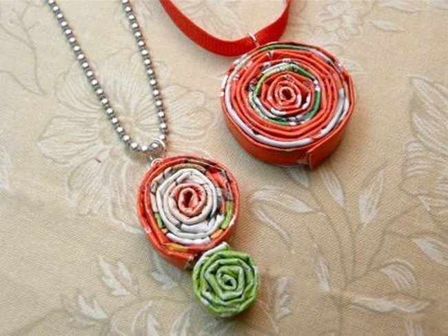 Upcycled Newspaper Jewelry