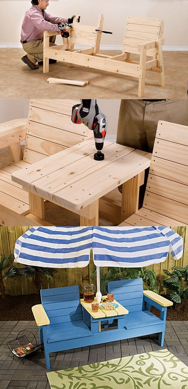 Wooden Pallet Double Chair