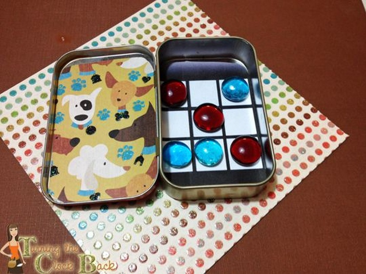 Altoids Tin Tic-tac-toe Travel Game