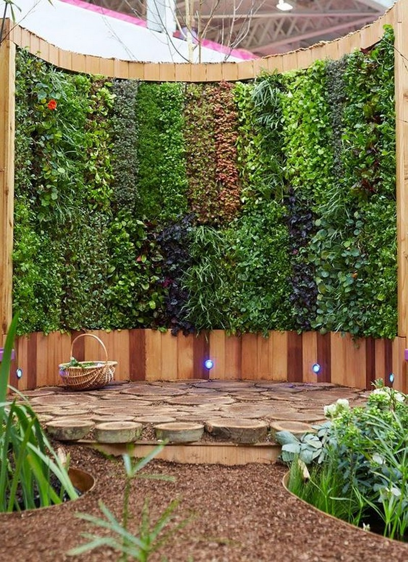 Backyard Wall Decor Idea