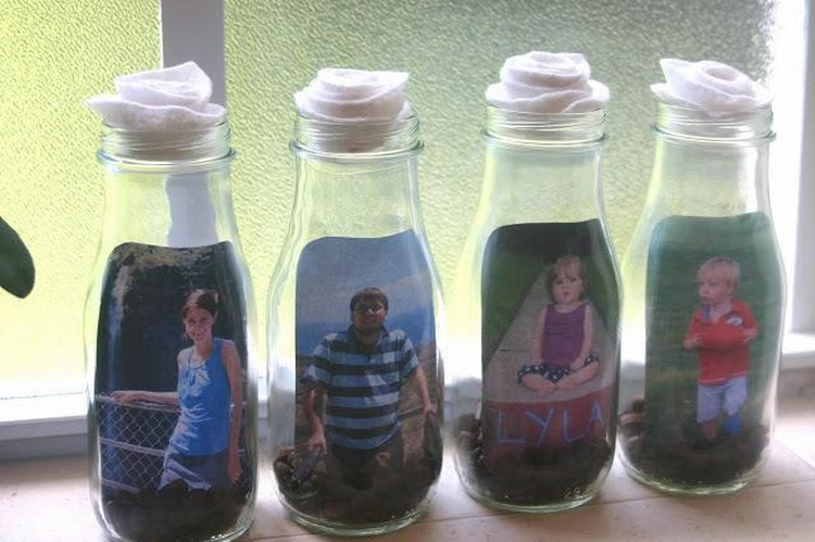 Glass Bottle Picture Frames