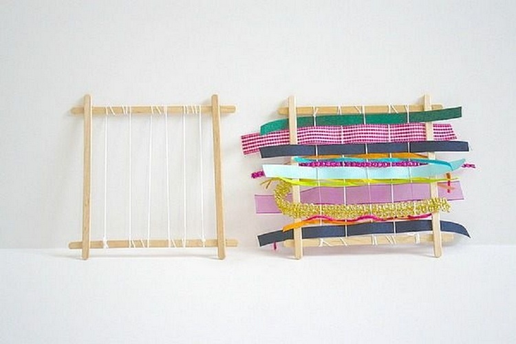 Homemade Popsicle Stick Loom