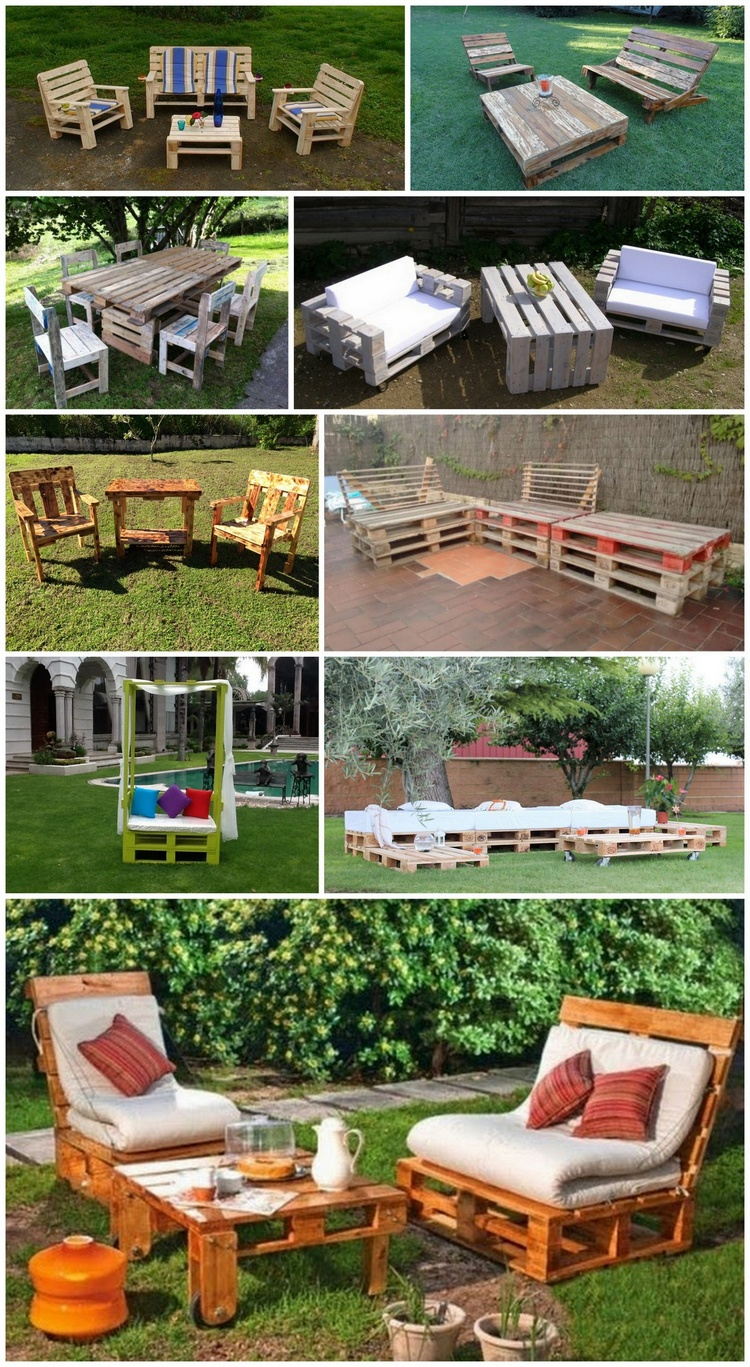 Insanely Smart and Creative DIY Pallet Outdoor Furniture Ideas
