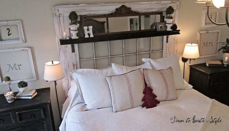 Master Bedroom Makeover with Old Windows