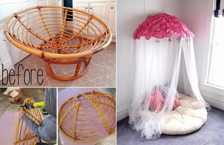 Old Papasan Turned Canopy