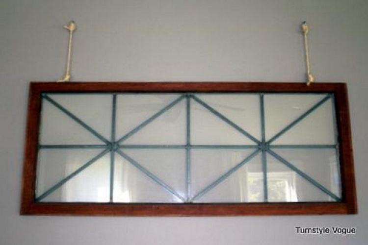 Old Windows Wall Display
