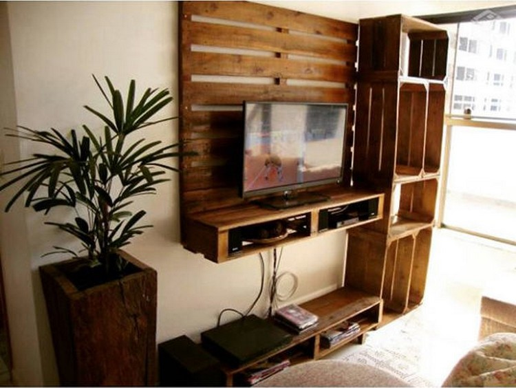 Pallet LED Wall Shelves