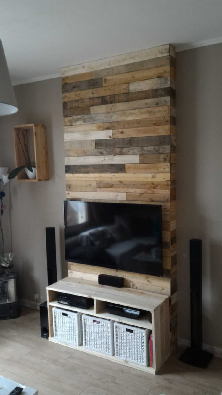 Pallet Wall Paneling : Fantastic ways of how to reuse old wooden pallets