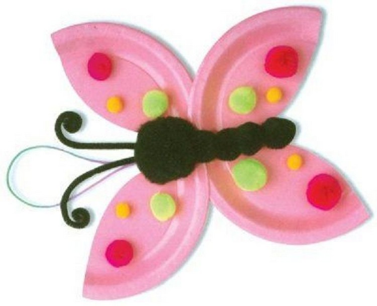 Paper Plate Dotty Butterfly