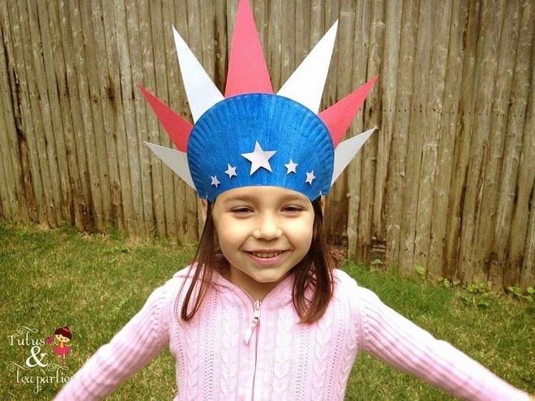 Paper Plate Patriotic Hat