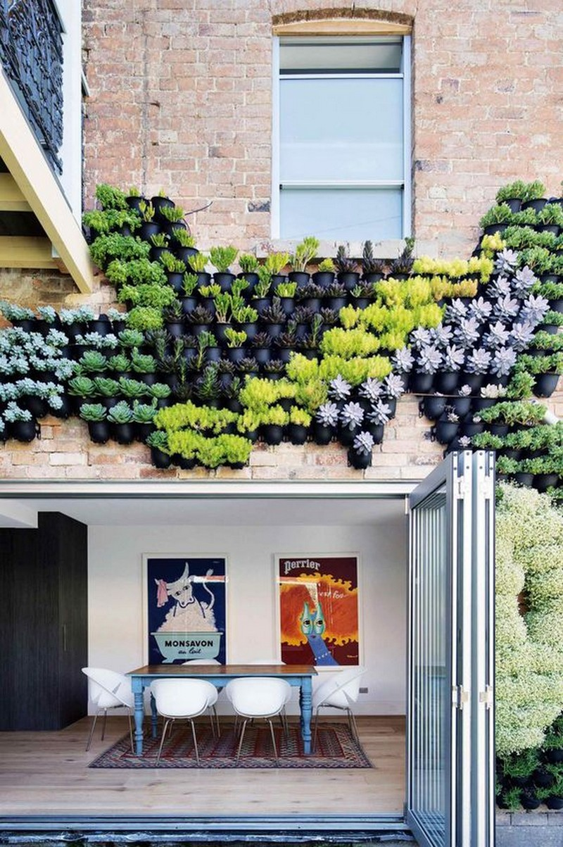 Planter Pots on Wall