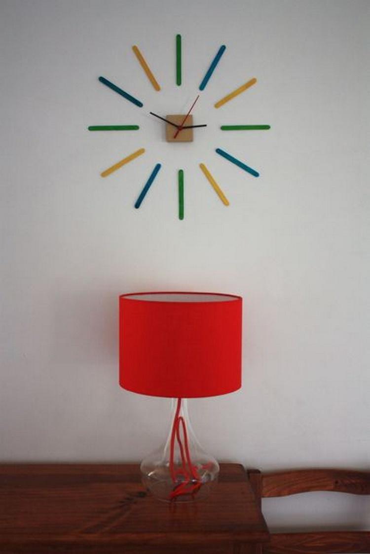 Popsicle Sticks Clock