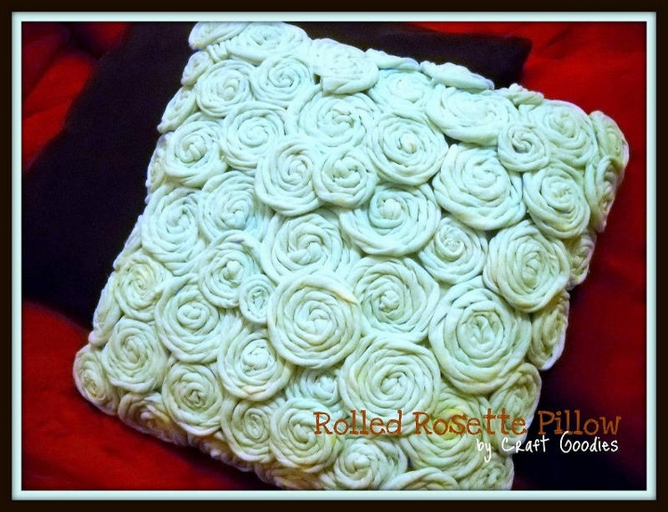 Rolled Rosette Pillow