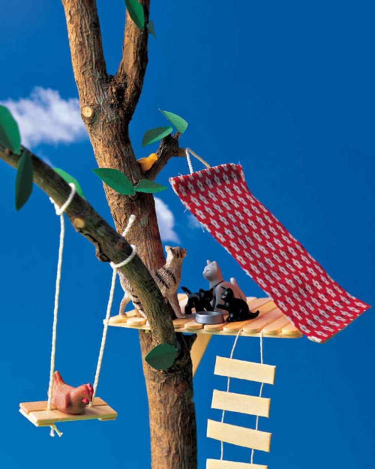 35 creative things to make with popsicle sticks recycled for How to build a treehouse with sticks