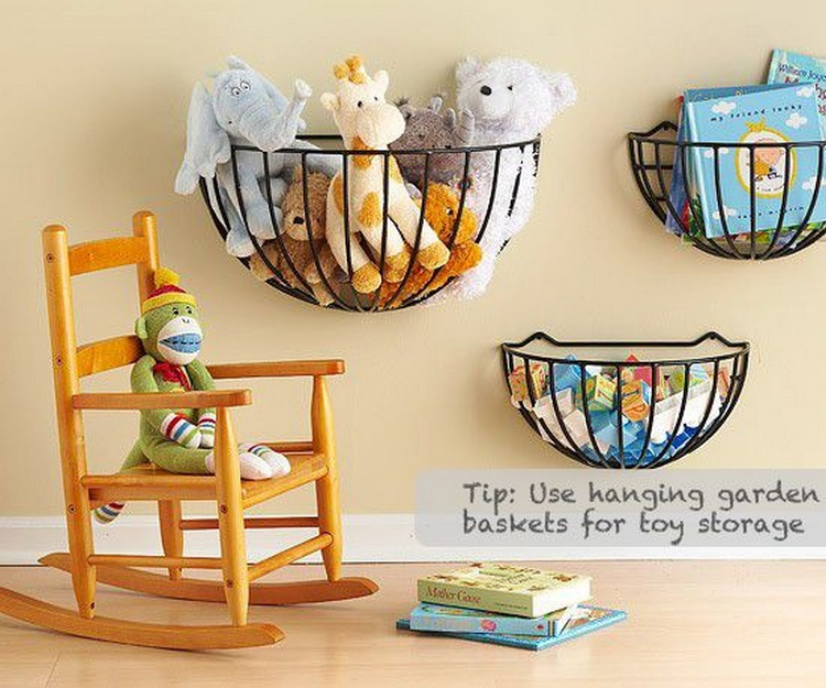 Use Garden Baskets As Toy Storage