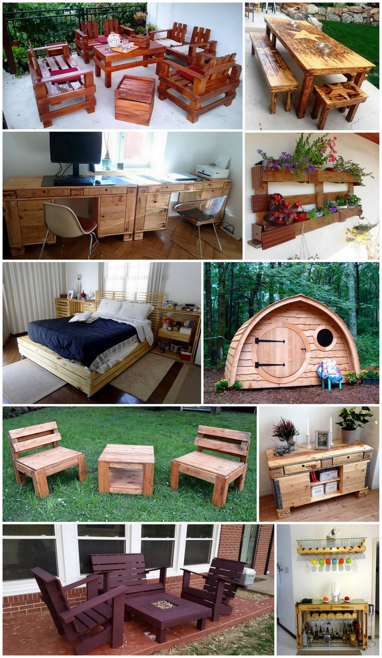 repurpose old furniture. Useful And Easy DIY Ideas To Repurpose Old Pallets Wood Furniture