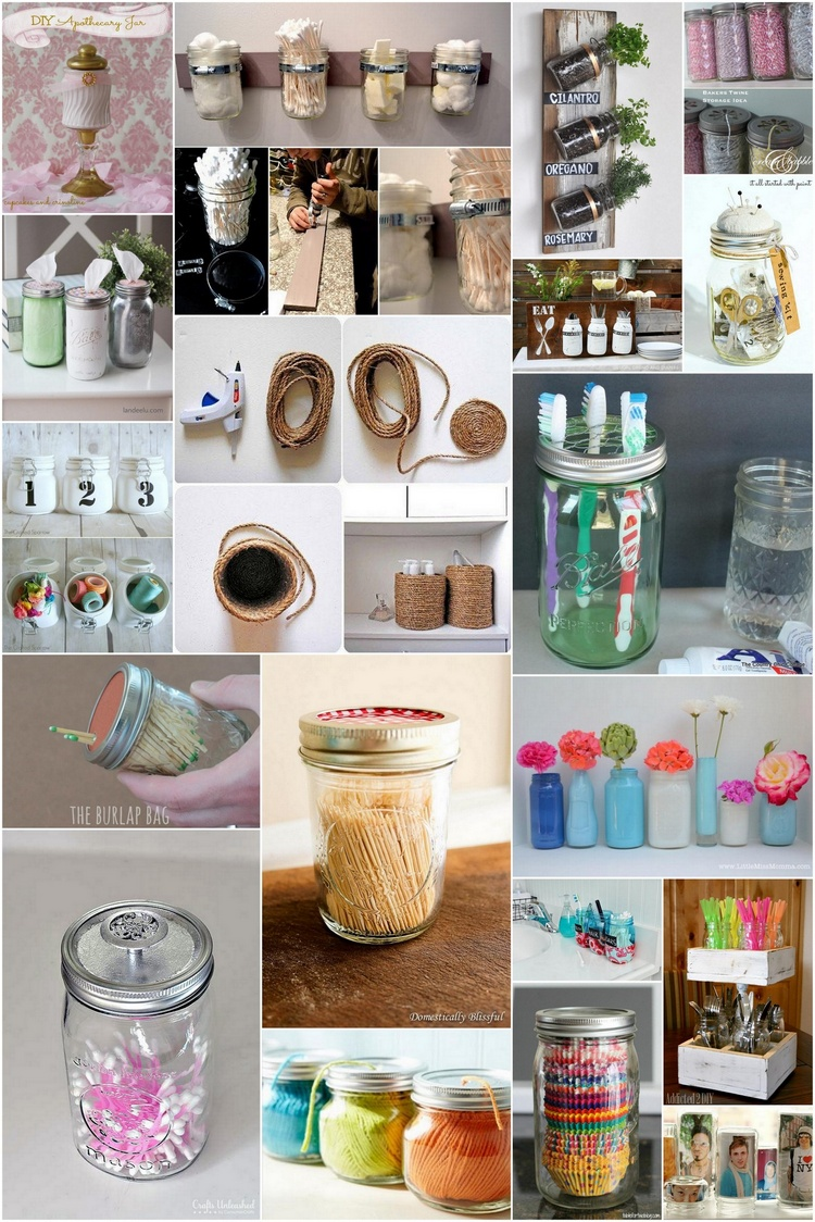 25 Genius Organization DIY Project Ideas Using Mason Jars