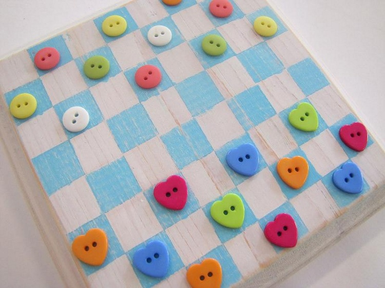Button Checker Board