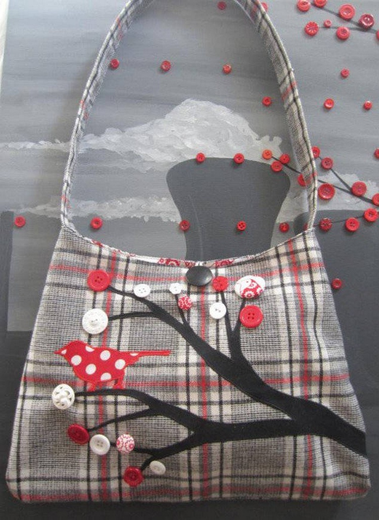 Button Tree Bag