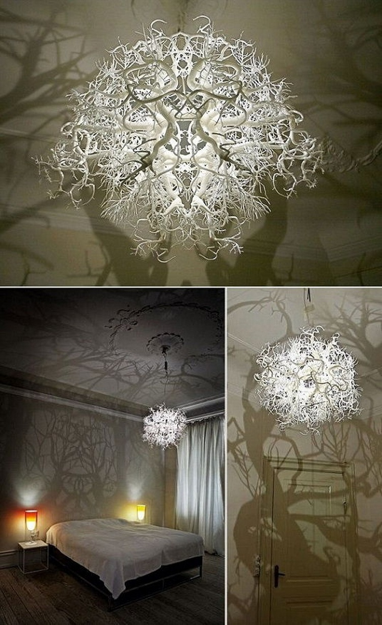 Chandelier Turns a Room Into a Forest