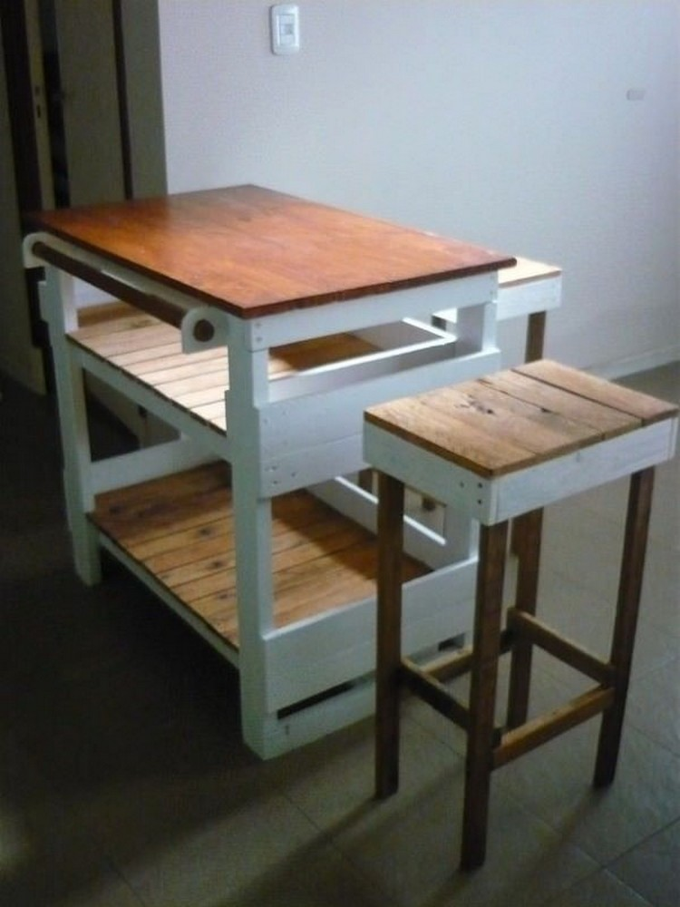 Chef Kitchen Pallet Island Table