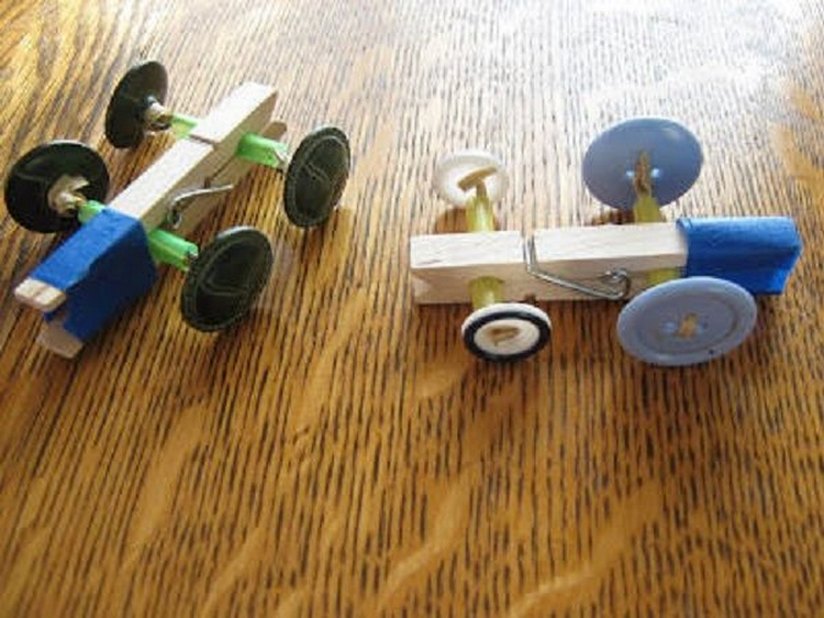 Clothespin Button Racer