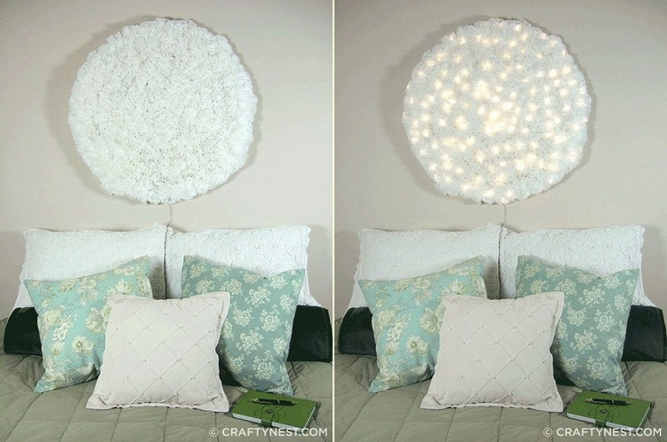 Coffee Filter Snowball Wall Light