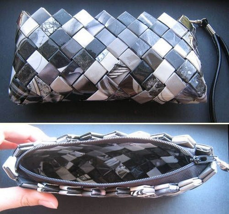 DIY Repurpose Magazine Purse