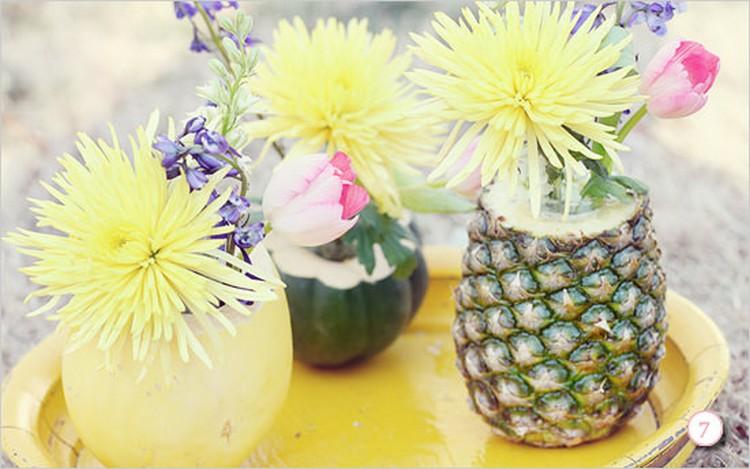 Fresh Fruit & Flowers Centerpiece