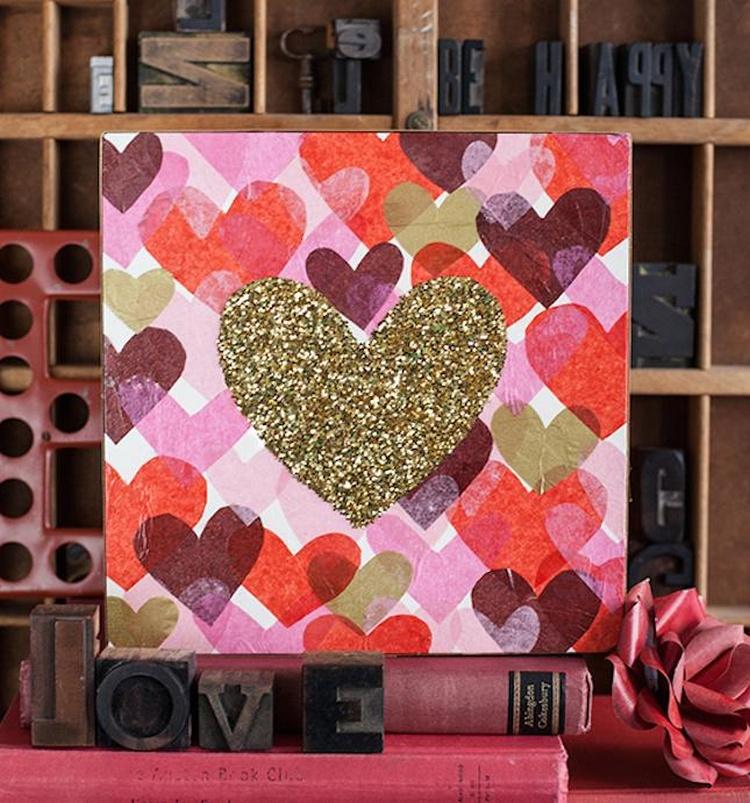 Glitter Heart Art
